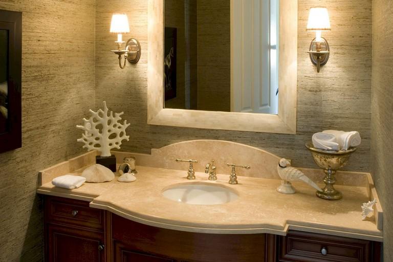 Awesome Sinkless Bathroom Vanity Design