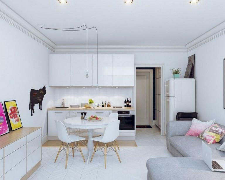 50+ Amazing Small Apartment Kitchen Design and Decor Ideas