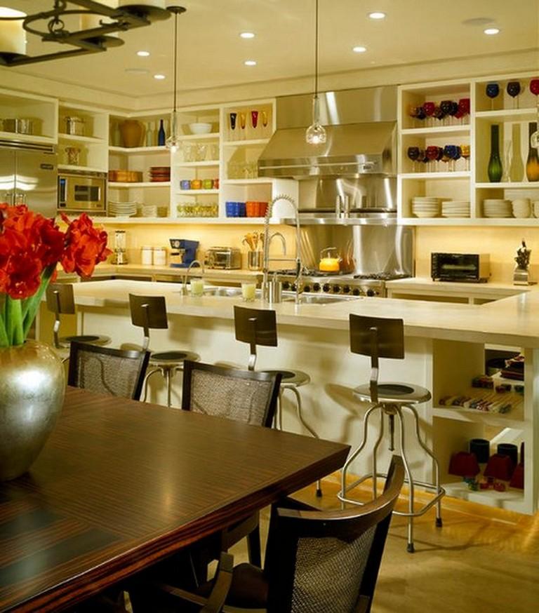 Upper Kitchen Cabinet Decorating Ideas: 18+ Best Open Upper Kitchen Cabinets Design Ideas For